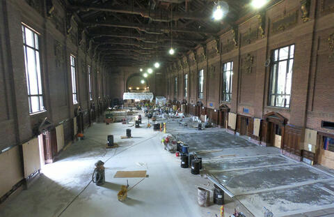 Commons interior renovation, June 2020